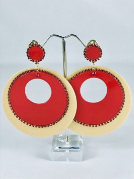 earrings-red-coloure