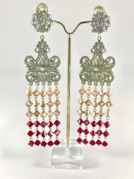 Crystal-inlaid-earring