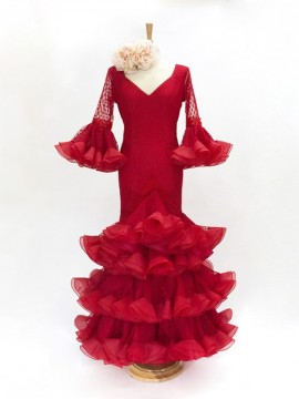 Plumeti-red-dress -organza-frills