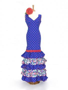 dots-printed-flamenco-dress